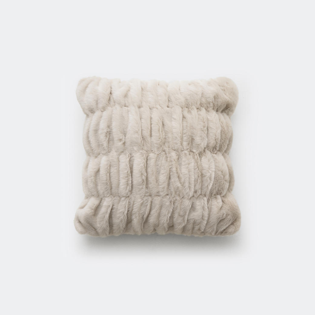 faux ruched pillow holly hunt