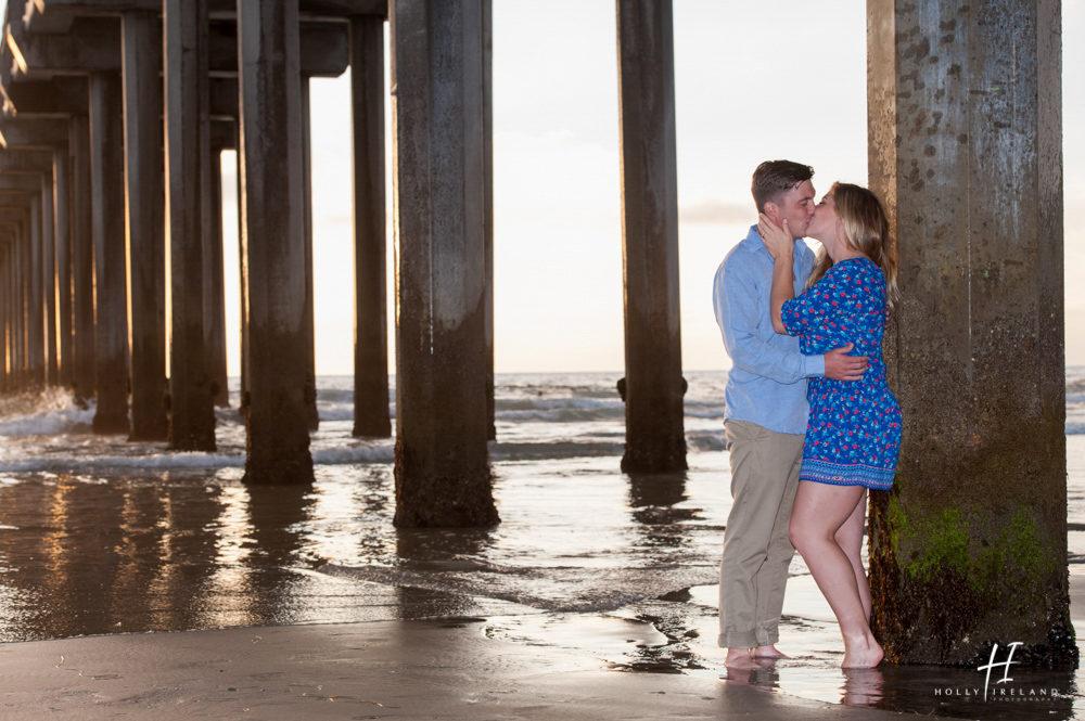 La Jolla Scripps Pier Engagement Photos Of Tori And Hunter