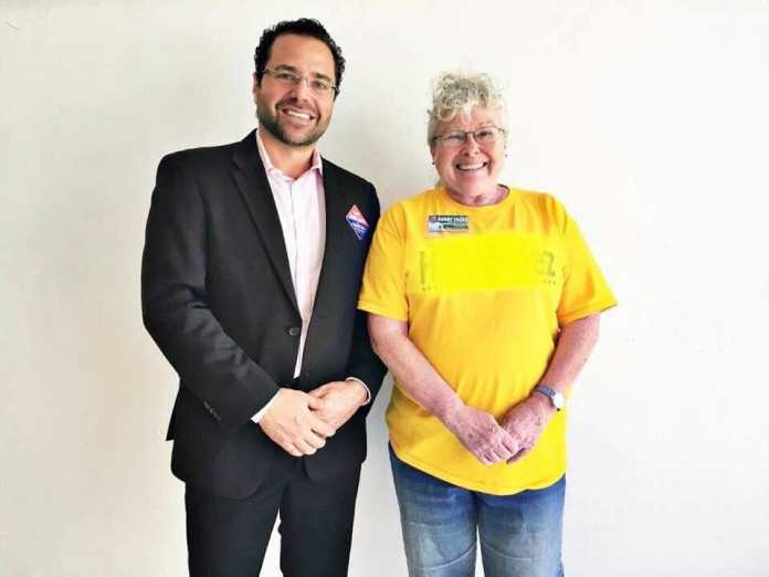 Patricia Antrican and Mayor Josh Levy