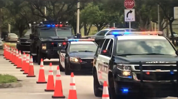 Hollywood Police Surprise Little Brothers and Sisters with a Parade