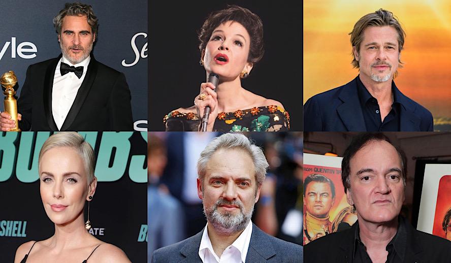 Hollywood Insider Oscars 2020 Nominees Joaquin Phoenix, Renee Zellweger, Brad Pitt