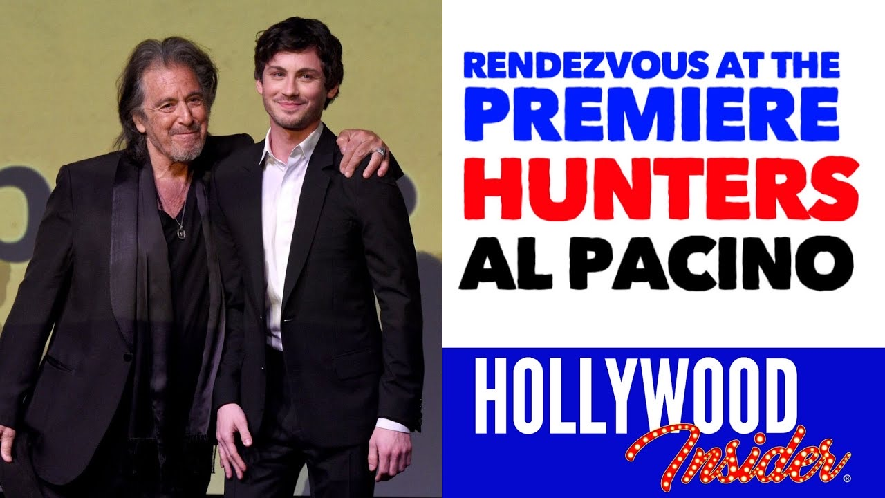 Hollywood Insider Rendezvous At The Premiere Hunters Al Pacino, Logan Lerman