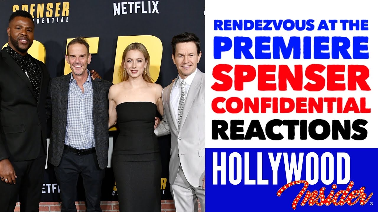 Hollywood Insider Video Series Spenser Confidential Premiere, Mark Wahlberg, Post Malone
