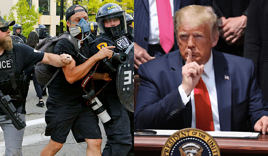 Hollywood Insider Donald Trump Attacks Press, Police Violently Attacks Journalists in USA