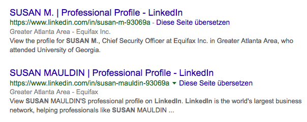 Equifax Chief Security Officer