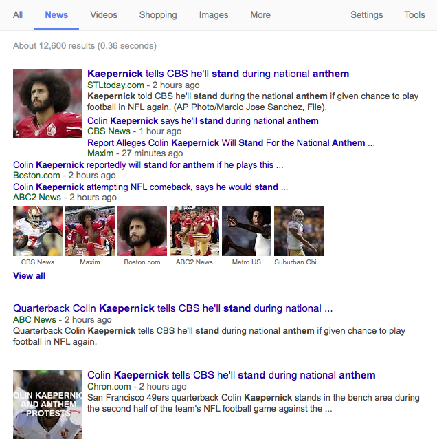 Kaepernick's NFL return?