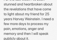 Quentin Tarantino on Harvey Weinstein via Amber Tamblyn