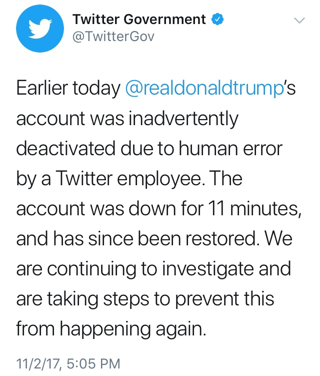 Trump's Twitter Account Deleted
