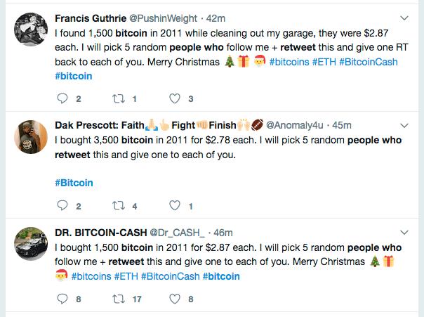 Free Bitcoin on Twitter?