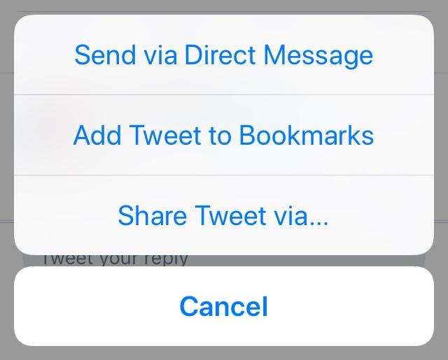 Twitter bookmark