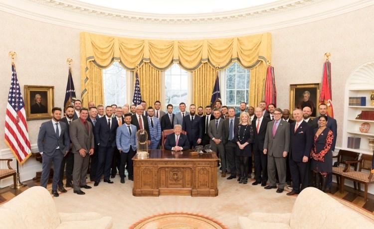 Trump with Houston Astros