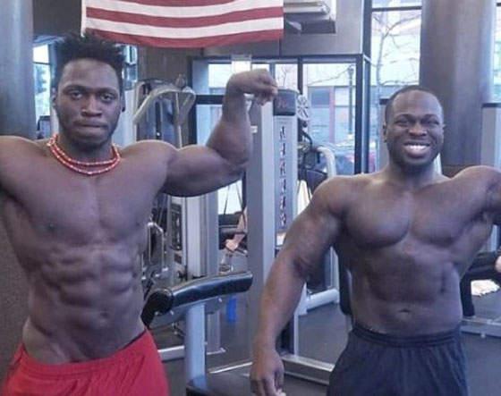 Osundairo Brothers in gym