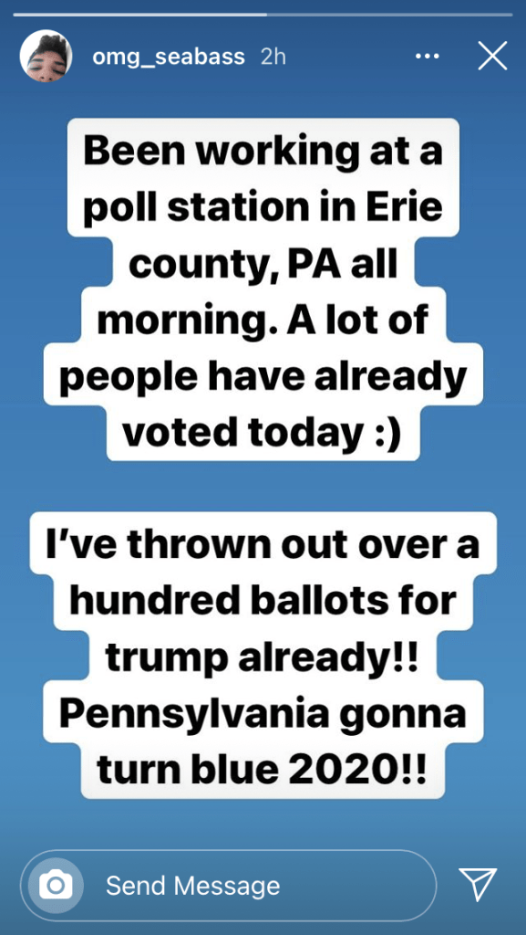 Trump ballots thrown out in Erie, PA