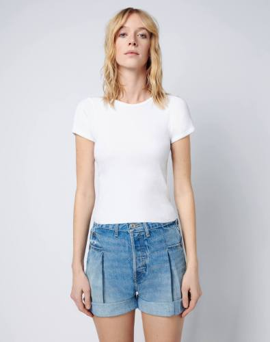 Re/Done '90s Ribbed Cap Sleeve Tee