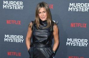 Jennifer Aniston reacts to wearing same suit as Harry Styles