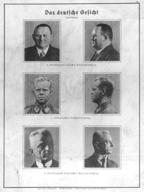 Eugenics poster entitled -The German Face