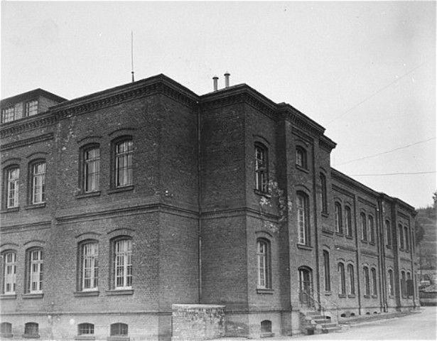 Exterior view of the main building of the Hadamar Institute