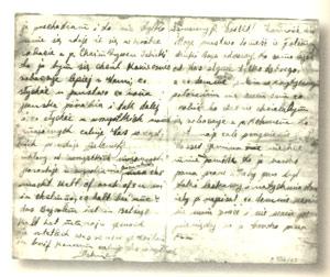 Una lettera da Szlamek con i dettagli della vita nel campo di Belzec, inviata a Hersz Wasser, aprile 1942