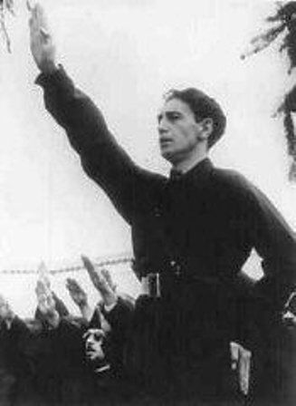 Horia Sima, leader of the Iron Guard and deputy prime minister of the Romanian government in 1940