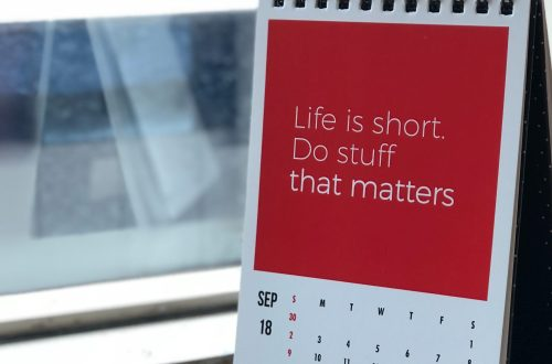 Life is short. Do stuff that matters.