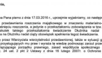 pismo od firmy egzekucyjnej