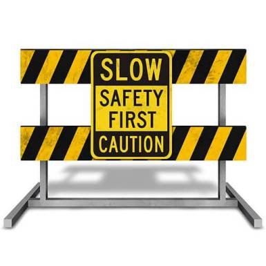 CONSTRUCTION IMAGE, slow safety first caution