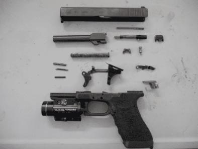 field stripping a gun