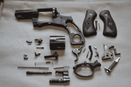 field stripping a revolver