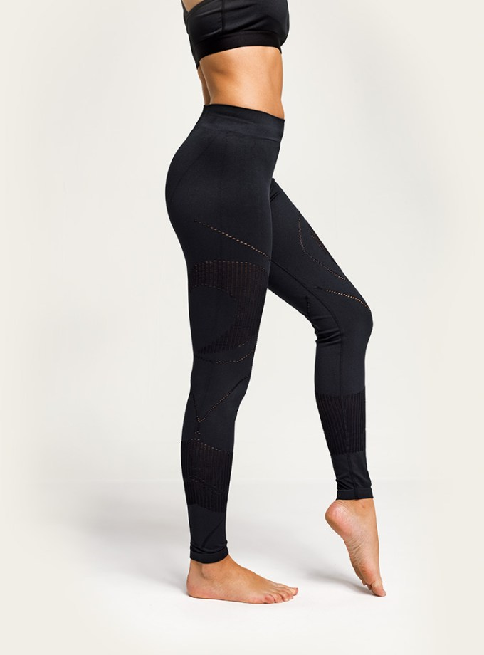 Holt Athleisure seamless black reveal leggings