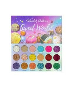 paleta de glitter sweet world by varied queen web Holy cosmetics