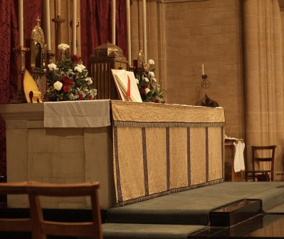 Canon placed on the altar