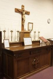 Sacristy altar Closeup