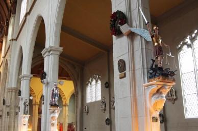 Statues on Epistle side