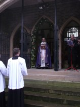 priest opens Holy Door