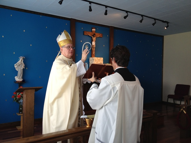 Blessing of the chapel on May 13, 2012