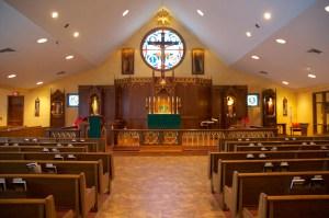 Inside new church - June 2013