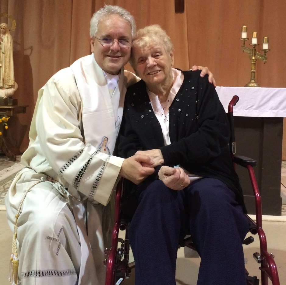 Fr. Finelli and Eileen George