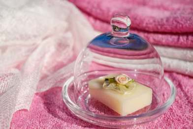 Soap with flower on top