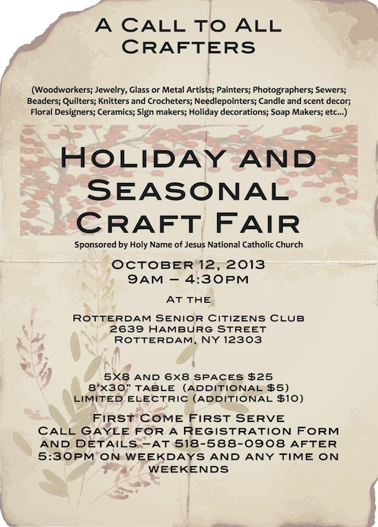 craft fair, Schenectady NY, October 12, 2013, Rotterdam