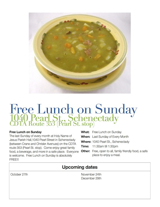Soup on Sunday Flyer