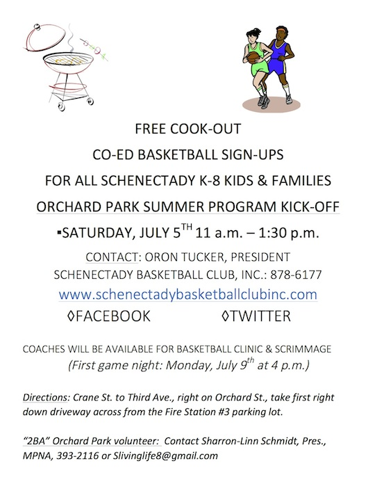 FLYER July 5th Cook-out & BASKETBALL SIGN-UPS