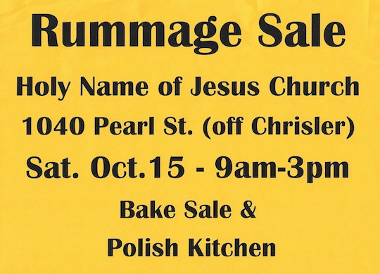 Rummage and Bake Sale