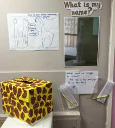 Giraffe Name display