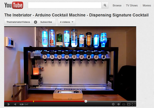 Robot bartender Youtube