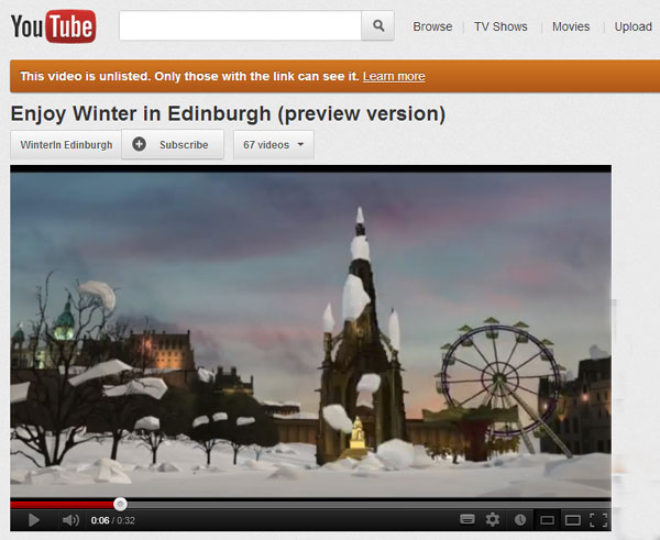 Youtube WinterinEdinburgh