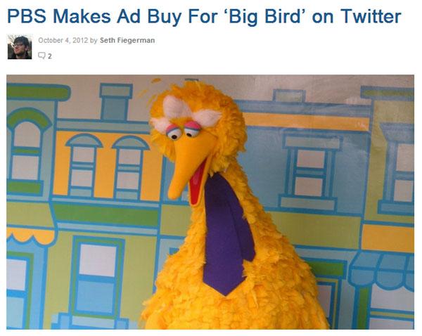 Big Bird Mashable