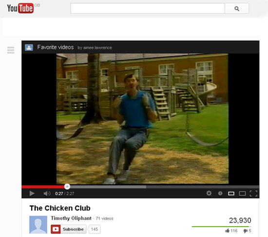 Youtube The Chicken Club
