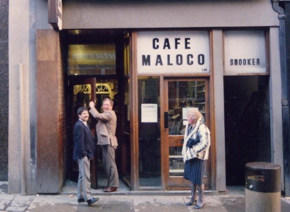 Legal PR photography for lawyer Michael Maloco whos family owned a cafe in Dunfermline