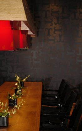 Bar and restaurant PR photography for Tigerlily in Edinburgh showing distinctive seating in the bar and restaurant area