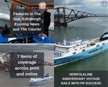 Scottish PR photography DFDS Norfolkline anniversary voyage with Dunkirk vet